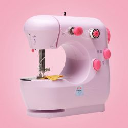 "Pink Desktop Portable Household Sewing Machine – Use code ""NEW20"" and save 20%!"