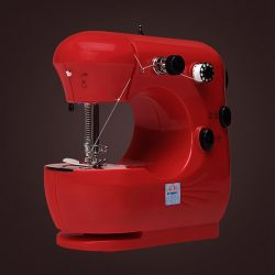 Red Mini Electric Craft Sewing Machine