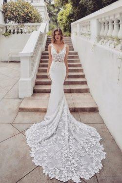 Brautkleider Spitze Meerjungfrau | Hochzeitskleider V Ausschnitt