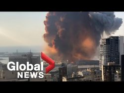Beirut explosion: Video shows new angle of the massive blast – YouTube