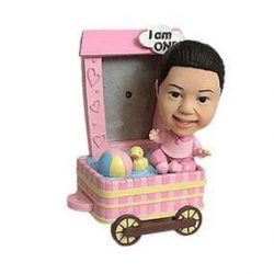 Baby Girl With Wagon Frame Custom Bobblehead