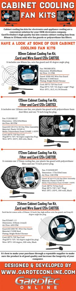 Cabinet Cooling Fan Kits