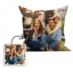 Custom Family Photo Throw Pillow