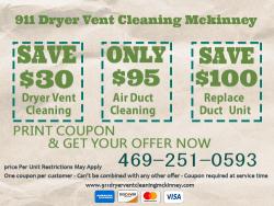 911 Dryer Vent Cleaning McKinney TX