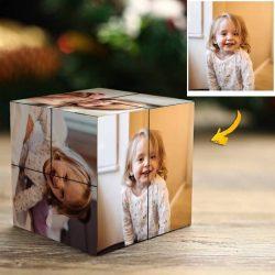 Custom Rubix Cube Baby's Gift 9 Photos Cube