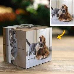 Custom Rubix Cube Lovely Pet Gift 9 Photo Cube
