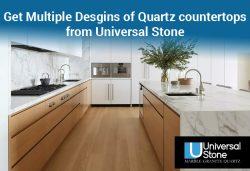 Get Multiple Desgins of Quartz countertops from Universal Stone