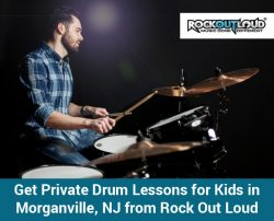 Get Private Drum Lessons for Kids in Morganville, NJ from Rock Out Loud