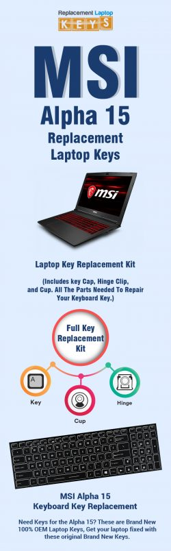 Get Quality Replacement Keys for MSI Alpha 15 from Replacement Laptop Keys
