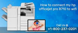 How to connect my HP Officejet pro 8710 to wifi?