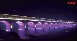 LED Landscape Lighting 18-opening Bridge, Jinling River, Baoji