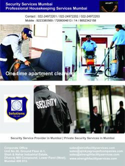 Facility Management, Security & Housekeeping Services In Mumbai