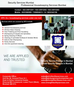 Residential security and Housekeeping services in mumbai