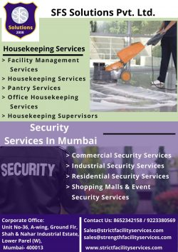 Facility Management & Housekeeping Services in Mumbai | Leading Security Services Agency In  ...