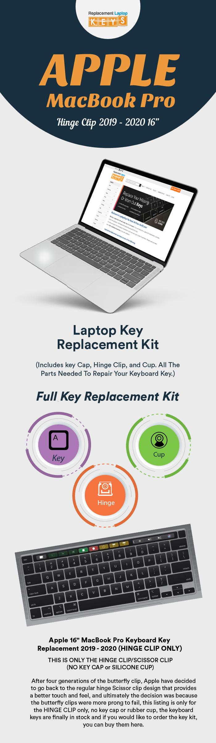 Shop 2019 – 2020 Apple MacBook Pro Keyboard Keys from Replacement Laptop Keys