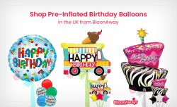 Shop Pre-Inflated Birthday Balloons in the UK from BloonAway