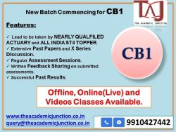 CB1 Ch 1 Part 1 By Silky Lamba | Experienced Faculty | Actuarial Science
