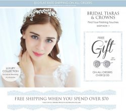Bridal Tiaras & Crowns At The Wedding Garter