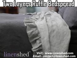 Two Layers Ruffle Bedspread At LINENSHED