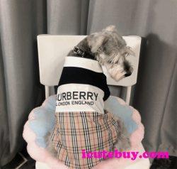 バーバリー ドッグウェア BURBERRY LONDON ENGLAND 犬ウェア スプライス式 Burberry ワンちゃん服 可愛 ...