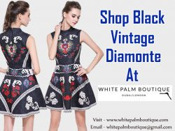 Shop Black Vintage Diamonte At White Palm Boutique