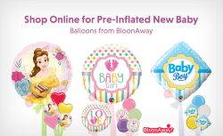 Shop Online for Pre-Inflated New Baby Balloons from BloonAway