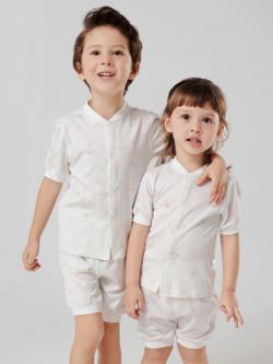 55% Mulberry Silk Smooth Silk Pajamas For Kids
