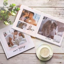 Custom Photo Book For Anniversary Square Book – 3 Size To Choose