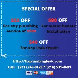 Fix Plumbing Leak Dallas TX