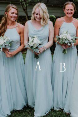 Günstige Brautjungfernkleider Hellblau | Brautjungfernkleider für Mollig