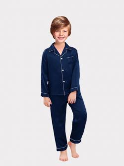 Classic Silk Pajamas Set For Boy