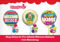 Shop Online for Pre-inflated Welcome Balloons from BloonAway