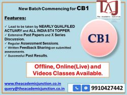 Actuarial Science CB1 Ch 15| By Silky Lamba| All India ST4 Topper | Experienced Faculty