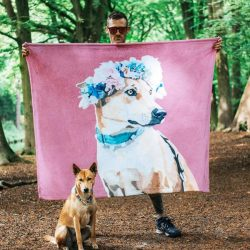 Custom Dog Blankets Personalized Pet Photo Blankets Painted Art Portra