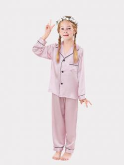 Classic Silk Pajamas Set For Girl