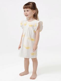 55% Mulberry Silk Lovely Printed Silk Dress For Girls