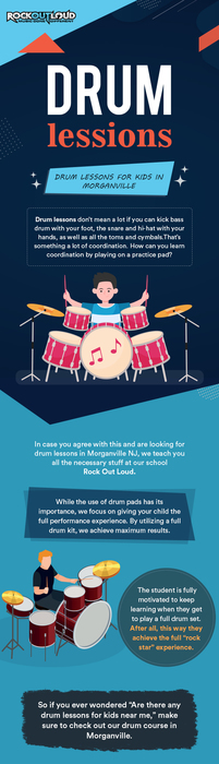 Get the Best Drum Lessons for Kids in Morganville from Rock Out Loud
