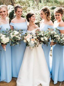 Hellblaues Brautjungfernkleid Lang | Brautjungfernkleider Günstig Online Kaufen