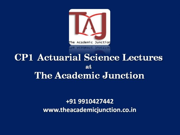CP1 Introductory Video| By Silky Lamba | Actuarial Science