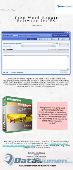 Free Word Repair Software for PC