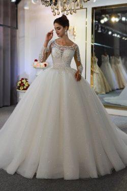 Extravagante Brautkleider mit Ärmel | Ausgefallene Brautkleider Prinzessinen