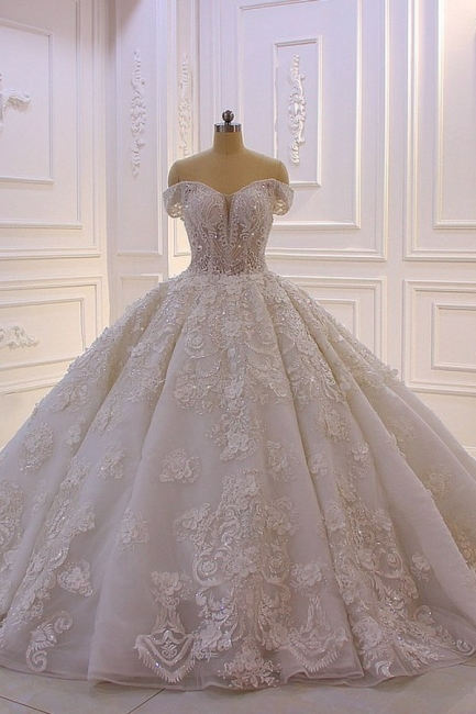 Hochzeitskleider Prinzessin Spitze | Extravagante Brautkleider online