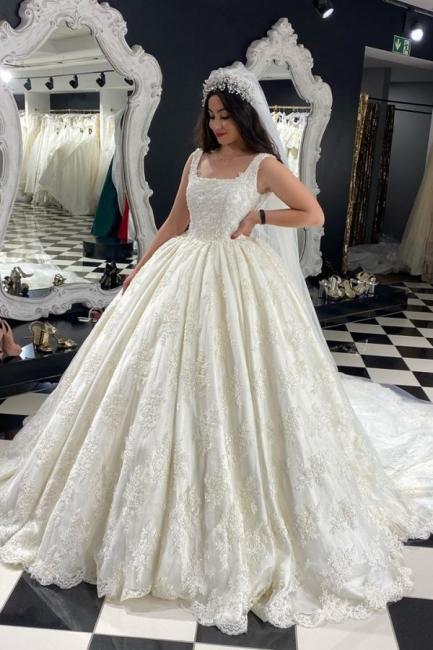 Extravagante Brautkleider A Linie | Hochzeitskleider mit Spitze