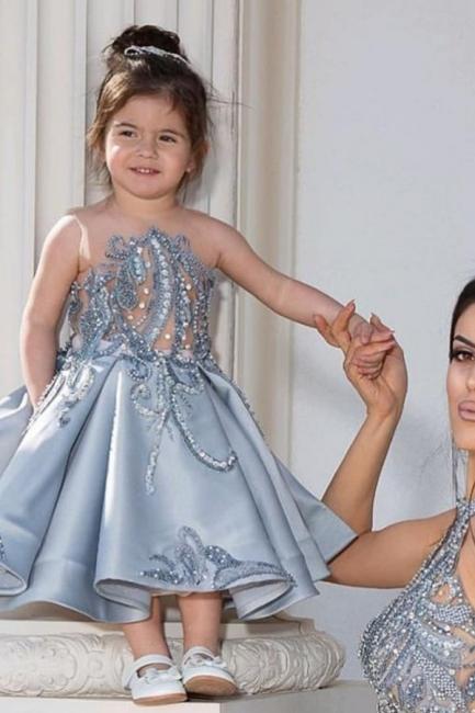 Schöne Blumenmädchenkleider Günstig | Kinder Hochzeitskleider Online