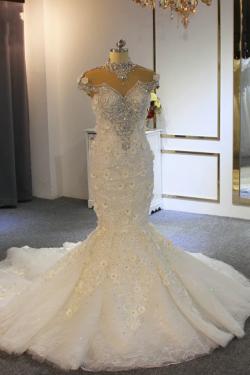 Extravagante Brautkleider Meerjungfrau | Hochzeitskleid Mit Spitze