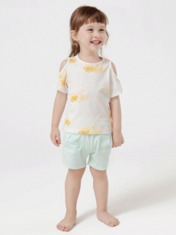 55% Mulberry Silk Lovely Printed Silk Top For Kids