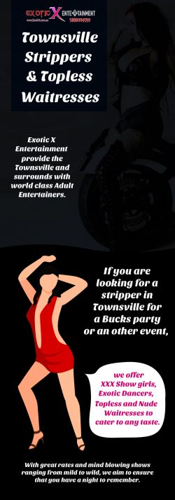 Hire Topless Waitresses & Strippers in Townsville from Exotic X Entertainment