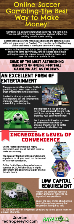 Online Soccer Gambling-The Best Way to Make Money!