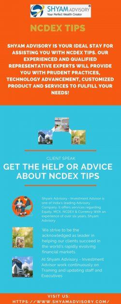 NCDEX Tips