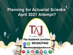 Planning for Actuarial Science April 2021 Attempt?